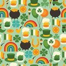 St. Patrick's Day,Luck,Pot Of Gold,Republic of Ireland,Happiness,Day,Horseshoe,Rainbow,Leprechaun,Vector,patrick,Saint,Pattern,Gold,Flag,trefoil,Retro Revival,Seamless,Paper,Cauldron,Textile,Computer Icon,Greeting,Wrapping Paper,Holiday,Clover,Textured Effect,Print,Backgrounds,Fashion,Green Color,Party - Social Event,Invitation,Rice Paddy,Wallpaper Pattern,Leaf,Greeting Card,Coin,Shoe,Beer - Alcohol,Celebration,Pipe,Balloon,Pyrotechnics,Cooking Pan,Textured,Glass,Hat