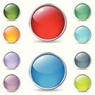 Internet,Sign,Computer Icon,Circle,Freshness,Sphere,Computer Graphic,Label,Yellow,Pushing,Orange Color,Multiple Exposure,Reflection,Colors,Blue,Button,Red,Shiny,Glowing,Vector,Ilustration,Abstract,Silver Colored,Vibrant Color,Web Page,Shadow,Turquoise,Green Color,Purple,Icon Set