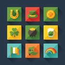 Clover,Sign,Pot Of Gold,Rice Paddy,Vector,Design Element,Symbol,Retro Revival,Computer Icon,Beer - Alcohol,Web Page,Luck,Saint,Sparse,Hat,Gold,The Media,Flat Design,Happiness,Internet,Shoe,Republic of Ireland,Flag,Flat,Party - Social Event,Holiday,Cauldron,Information Medium,Celebration,Leaf,Cultures,Green Color,Celtic Style,Rainbow,trefoil,Celtic Culture,Coin,Glass,Interface Icons,Shadow,Day,patrick,Horseshoe,Cooking Pan,Application Software