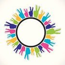 Abstract,Community,Men,Multi Colored,Supporting,Sign,Protection,Holding,Meeting,Cooperation,Handshake,Success,Strength,Business,Friendship,Variation,Unity,Circle,Sharing,Human Hand,Isolated,Symbol,Symbols Of Peace,Victory,People,Social Issues,Concepts,Togetherness,Creativity,Design,Label,Teamwork,Connection,Vector,Large Group Of People,Help,Group Of People,Communication