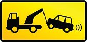 Towing,Car,Sign,Symbol,Message,Parking Sign,Driving,Truck,Allowed,Traffic,Parking,Safety,Warning Sign,Mode of Transport,Street,Transportation,Advice,Yellow,Warning Symbol