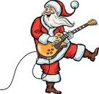 Guitar,Senior Men,Music,Guitarist,Pop Musician,Christmas,Senior Adult,Standing,Smiling,Music Style,Playing,Cheerful,People,Electric Guitar,Full Length,One Person,Santa Claus,Rock and Roll,Hat,Humor,Looking At Camera,Season,Retro Revival,Plucking An Instrument,Men,Holiday,Vector,Ilustration