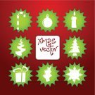 Gift,Christmas,Label,Color Image,Ilustration,Vector