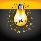 Light Bulb,Color Image,Ilustration,Vector