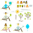 Characters,Real People,Hippie,Men,Women,Tree,Sitting,Sweater,Bird,Smoking,Little Girls,Sun,Hat,Friendship,Rural Scene,Non-Urban Scene,Ilustration,Summer,Nature,Sky,Modern,Shirt,Vector,Grass,Leaf,Springtime,Cheerful,Cloud - Sky,Happiness,Nature Symbols/Metaphors,one two three four,Freshness,Breeze,Character Traits,Nature,Concepts And Ideas,handcarves,carved letters