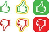 Positive Emotion,Thumbs Up,Obedience,Computer Icon,Moving Down,Symbol,Thumbs Down,Thumb,Negative Emotion,Human Finger,Sign,Rudeness,Green Color,unlike,Satisfaction,Internet,Ilustration,Design,confirm,Success,Receiving,Voting,Agreement,Scar,Moving Up,Human Hand,Red,Concepts,Yes - Single Word,Choice,Vector,OK Sign,Web Page,Deterioration,OK,Awe,Set,Interface Icons,Mistake,Rejection,White Background,No,Isolated