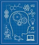 Blueprint,Ideas,Mathematical Symbol,Human Brain,Mathematics,Concepts,Human Head,Formula,E=mc2,Gear,Molecular Structure,Light Bulb,DNA,Microscope,Science,Learning,Chemistry,Wisdom,Biology,Expertise,Physics,Laptop,Student,Education,Pi,Scientist,Studying,Triangle,Profile View,Calculus,Icon Set,Intelligence,Pythagorean Theorem