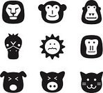 Lion - Feline,Computer Icon,Symbol,Human Face,Flat,Monkey,Ape,Dog,Domestic Cat,Undomesticated Cat,Silhouette,Gorilla,Sign,Pattern,Black Color,Animal Head,White,Simplicity,Animal,Design,Cartoon,Pets,Toy,Design Element,Mascot,Cute,Group Of Animals,Isolated,Duck,Connection,template,Animals In The Wild,Smiling,Zoo,Herd,Internet,Modern,Application Software,UI,Vector,Baboon,Wildlife,Computer Graphic,Mammal,Large Group Of Animals,user,Fun,Nature,Collection,Set