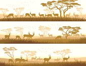 Plain,Savannah,Urban Skyline,Africa,Silhouette,Prairie,Landscape,Woodland,Scenics,Panoramic,Placard,Wildlife,Banner,Steppe,Animal,Non-Urban Scene,Pasture,Ilustration,Nature,Herd,Meadow,Horned,Horizon,Tree,Acacia Tree,Herding,Animals In The Wild,Vector,Stem,Grazing,Set,Bird,Horizon Over Land,Cartoon,Animal Themes,Bookmark,Abstract,Horizontal,Antelope