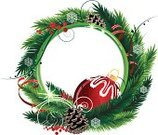 Wreath,Holly,Pine Tree,Garland,Winter,Fir Tree,Christmas,Frame,Decoration,Hanging,Backgrounds,Season,Needle,New Year,Nature,Green Color,White,Branch,Evergreen Tree,Plant,Concepts,Isolated,Image,Holiday,Celebration,Ilustration,No People,Vector,Winterberry Holly,White Background,Christmas Ornament,Spruce Tree,Pine Cone,Cultures,Isolated On White,December,Design,Symbol,Red