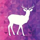 Deer,Antler,Modern,Elk,Animal,Facet,Hipster,polygonal,Backgrounds,Triangle,Copy Space,Vector,Funky,Ilustration,Geometric Shape,Color Image,Abstract,Typescript,Pattern