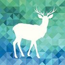 Deer,Antler,Geometric Shape,Ilustration,Copy Space,Typescript,Funky,Pattern,Facet,Abstract,Vector,Triangle,polygonal,Hipster,Animal,Elk,Backgrounds,Modern,Color Image