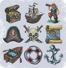 Pirate,Sailor,Sea,Chest,World Map,Doodle,Oar,Gold Colored,Symbol,Cheerful,Tropical Climate,Nautical Vessel,People,Aiming,Grained,Hat,Journey,Paper,Spotted,Computer Graphic,Art,Set,Wood - Material,Craft,Anchor,Cutting,Cockatoo,Rope,Design,Parrot,Buoy,Climate,Sailing,Human Skull,Distance Marker,roger,Vector,Computer,Cap,Textured,Ship,Ilustration,Treasure,Sketch,Adventure
