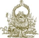 Yeti,Exercising,Cartoon,Ilustration,Monster,Humor,Scratchboard,Drawing - Activity,Eccentric,Woodland,Carefree,Timber,Beastly - Film Title,Yoga,Animals In The Wild,Beast,Animal,Uncultivated,Strength,Copse,backwoods,Playful,Fun,Bizarre,Mythology,Drawing - Art Product,Forest,Fantasy,Imagination,Mystery,Tree