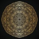 Lace - Textile,Circle,Vector,Floral Pattern,Ilustration,Single Flower,Antique,Elegance,filigree,Decoration,Old-fashioned,Dark,Arabic Style,Ornate,Skill,Luxury,Black Color,Pattern,Baroque Style,Curve,Gold Colored,Embroidery,Curled Up,Art,Abstract