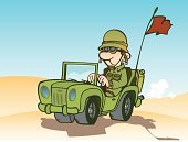 Jeep,Army,Armed Forces,Military,Army Soldier,Military Land Vehicle,Work Helmet,World War II,Desert,Land Vehicle,Military Uniform,Sand Dune,Land Army,Uniform,Flag,Willie's Jeep,Driving,Tire,Eyeglasses,Can
