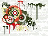 Circle,Star - Space,Retro Revival,Computer Graphic,Flower,Vector,Geometric Shape,Grunge,Color Image,Direction,Clip Art,Backgrounds,stylize,Design,Modern,Ilustration,Floral Pattern,Abstract,Art,Shape,White,Beautiful,Red,Large Group of Objects,Curve,Composition,stylization,Illustrations And Vector Art,Plant,Macro,Part Of,Green Color