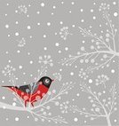 Winter,Bird,Christmas,Snow,Holly,Pattern,Holiday,Cold - Termperature,Retro Revival,Red,Snowflake,Gray,Hanging,Branch,Cheerful,Gift,Animal,Ilustration,Cute,Tranquil Scene,Nature,Joy,Fun,Outdoors,Snowing,Seed,Cloud - Sky,Humor,Vector,Sock,Fog,White