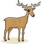 Deer,Fawn,Stag,Antler,Animals And Pets,Mammals,Animal,Vector,Ilustration,Wildlife