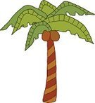 Clip Art,Tree,Palm Tree,Fruit