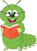 Book,Worm,Characters,Caterpillar,Smiling,Reading,Cartoon,Vector,Animal,Studying,Mascot,Ilustration,Happiness,Cheerful,Insect,Small,Green Color,Fun,Humor,Learning