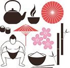 Asia,Oriental Cherry Tree,Vector,Umbrella,Parasol,Cultures,Japan,Restaurant,Set,Sushi,Craft,Symbol,Tokyo Prefecture,Tourism,Japanese Culture,East,Bamboo,Teapot,Tea Ceremony,Isolated,Art,Icon Set,Food,Sign,Design Element,Tea - Hot Drink,Souvenir,Collection,Antique,Rice - Food Staple,Flower,Classical Style,Red,Old-fashioned,Sumo Wrestling,Japanese Ethnicity