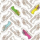 Shoe,Backgrounds,Running,Punk,Shoelace,Youth Culture,Punk,Style,Teenager,Training Class,Beauty,Sport,Human Foot,Seamless,Pattern,Old-fashioned,Rock - Object,Elegance,Shopping,Wallpaper Pattern,Modern,Multi Colored,Pair,Lifestyles,Sports Shoe,Casual Clothing,Canvas Shoe,1940-1980 Retro-Styled Imagery,Sale,Sports Training,Vector,Rock and Roll,Fashion,Funky,Ilustration