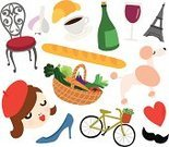 Beret,Beautiful,Red,Cultures,Stereotypical,Travel,Wine Bottle,Single Flower,Eiffel Tower,France,Wineglass,fresh vegetables,High Heels,Chair,Basket,Leek,Carrot,Wine,Vector,French Poodle,Heart Shape,Love,French Culture,Dog,Baguette,Poodle,Croissant,Mustache,Paris - France,Bottle,Ilustration,Bicycle,Coffee - Drink,Vegetable,Tomato,Garlic,Women