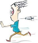 Syringe,Humor,Cartoon,Style,Men,Characters,Facial Expression