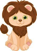 Lion - Feline,Wildlife,Mammal,Animal,King Of Beasts,Carnivore,Zoo,Cute,Real People,White Background,Vector,Remote,Cartoon,Animated Cartoon