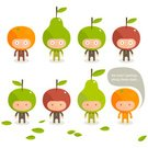 Fruit,Characters,Cartoon,Manga Style,Apple - Fruit,Food,Orange - Fruit,Pear,Friendship,Cheerful,Smiling,Healthy Lifestyle,Orange Color,Sparse,Healthcare And Medicine,Vector,Smiley Face,Happiness,Human Mouth,Leaf,Modern,Ilustration,Staring,Concepts And Ideas,Character Traits,Candid,Food And Drink,Breeze,Standing,carved letters,Fruits And Vegetables,Vector Cartoons,one two three four,Nature,Illustrations And Vector Art