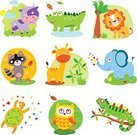 Animal,Cartoon,Tropical Rainforest,Young Animal,Friendship,Cow,Love,Giraffe,Cute,Owl,Lion - Feline,Child,Elephant,Zoo,Design,Puppy,Animals In The Wild,Multi Colored,Africa,Forest,Crocodile,Heart Shape,Collection,Bird,Wildlife,Fun,Doll,Ilustration,Alligator,Raccoon,Vector,Mascot,Doodle,Nature,Iguana,Set,Turtle,Toy