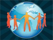 People,Globe - Man Made Object,Earth,Link,Planet - Space,Global Communications,Unity,World Map,Global Business,Teamwork,Connection,Silhouette,Map,Support,Shielding,Holding,Orange Color,Sphere,Blue,Togetherness,Team,Human Gender,Group Of People,Friendship,Vector,Attached,Communication,Protection,Ilustration,Partnership,Small Group Of People,Medicine And Science,Travel Locations,Cartography,Number of People,Illustrations And Vector Art