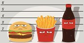 Unhealthy Eating,Take Out Food,Criminal,Soda,Bottle,Healthy Eating,Police Force,Food,Surveillance,Mug Shot,Police Line-Up,Crime,Food And Drink,Police Station,Nutritionist,Genetic Modification,Overweight,Cheeseburger,Blame,Fast Food Restaurant,Lunch Box,Hamburger,French Fries