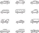Van - Vehicle,Mini Van,Sketch,Car,Doodle,Pick-up Truck,Truck,Mode of Transport,Convertible,Retro Revival,hand drawn,Transportation,Bus,Ilustration,Traffic,Cartoon,Sports Utility Vehicle,Vector,Computer Icon,Symbol,4x4,Towing,Motor Vehicle,Jeep,Motorsport,Land Vehicle,Sedan,High Angle View,Wheel,Off-Road Vehicle,Classic,Electric Car,Icon Set,Speed