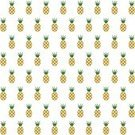 Pineapple,Pattern,Tropical Climate,Backgrounds,White,Green Color,Vegetarian Food,Fruit,Repetition,Yellow,Summer,Seamless,Wallpaper Pattern,Isolated,Food,Crop,Leaf