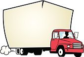 Moving Van,Motor Vehicle,People,Land Vehicle,One Person,Car,Cut Out,Men,Copy Space,Adult