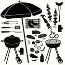 Barbecue Grill,Barbecue,Grilled,Kitchen Utensil,Symbol,Equipment,Vector,Sauces,Putty Knife,Bottle,Steak,Black Color,Icon Set,Domestic Kitchen,Kebab,Food,Picnic,Tomato,Fork,Burger,Outdoors,Ketchup,Summer,Silhouette,Fire - Natural Phenomenon,Grill Tools,Ilustration,Mustard,Set,Soda,Heat - Temperature,Meat,Salt Shaker,Coal,Sausage,Pepper,Cooking,Apron,Charcoal Drawing,Glove,Collection,Beef,Skewer,Chef,Pepper - Vegetable,Hot Dog