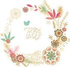 Frame,Bird,Summer,Decoration,Ilustration,Floral Pattern,Flower