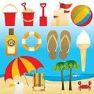 Beach,Summer,Beach Ball,Umbrella,Parasol,Sandcastle,Ice Cream,Vector,Icon Set,Flip-flop,Suntan Lotion,Crab,Palm Tree,Design Element,Sand Pail and Shovel,Deck Chair,Seagull,Sunshade,Flavored Ice,Backgrounds,Non-Urban Scene,Summer Icons,web icons,Large Group of Objects,Illustrations And Vector Art,Summer Icon Set,Vector Icons,Travel Locations,Holidays