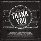 Thank You,Gratitude,Blackboard,Chalk Drawing,Vector,Chalk - Art Equipment,Ribbon,Square,Design,template,Black And White,Textured,Ilustration,Outline,Text