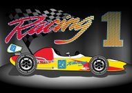 Racecar,Vector,Majestic,Car,Winning,Ilustration,Checkered Flag,Motor Racing Track,Cartoon,Transportation,Engine,Grand Tour,Flag,Driving,Sports Race,Number 1,Competition,Land Vehicle,Mode of Transport,Open Wheel,Vintage Racing Car,Side View,Sport,Success,Speed,Yellow,Red,Tire