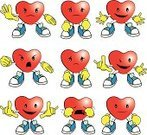 Cartoon,Happiness,Love,Emotion,Shoe,Human Hand,Anger,Action,Facial Expression,Vector,Crying,Smiling,Heart Shape,Sadness