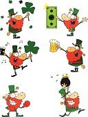 St. Patrick's Day,Multi Colored,Clover,Pot Of Gold,Drawing - Art Product,Clip Art,Isolated On White,Image,Humor,Joy,Vector Cartoons,Image Type,Holidays And Celebrations,Holiday,Vector,Characters,Painted Image,Mascot,Computer Graphic,Celebration,Ilustration,Paintings,Design,Beer - Alcohol,Set,Cheerful,Digitally Generated Image,Dollar Sign,Happiness,Dollar,Leprechaun,Color Image,Smiling,Cartoon,Illustrations And Vector Art,Holidays And Celebrations,Collection,Holding