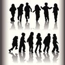 Child,Silhouette,Offspring,Shadow,Walking,Playing,Running,Family,Back Lit,Little Boys,Little Girls,People,Action,Playful,Cheerful,Fun,Vector,Happiness,Friendship,Computer Graphic,Brother,Ilustration,Clip Art,Togetherness,Female,Sister,Isolated On White,Male,Color Gradient,handcarves,Babies And Children,Lifestyle,Actions,People