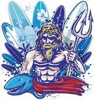 Neptune - Deity,Trident,Surfing,Statue,Ilustration,Men,Triton,Navy Blue,Clip Art,Fantasy,Power,Turquoise,Water,Surfboard,Drop,Sport,Vector,Idol,Only Men,Senior Men,Longboarding,Windsurfing,Royal Blue,Roman Mythology,Greek Culture,Zeus,Surf,Ancient,Drawing - Art Product,Water Sport,Summer,Human Muscle,Mid Adult Men,Blue,The Past,Greek Mythology,Classical God,Pitchfork,Pencil Drawing,Mythology,Roman,Social History,Muscular Build