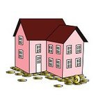 Roof,Pig,Window,Mansion,rent,Family,Finance,Coin,Currency,Red,Business,Ilustration