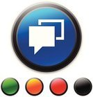 Interface Icons,Circle,Computer Icon,Green Color,Orange Color,Blue,Symbol,Clip Art,Red,Black Color,Discussion,Text Messaging,Vector,Ilustration,Message,Speech Bubble,Communication