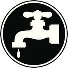 Faucet,Drop,Leaking,Water,Plumber,Water Pipe,Machine Valve,Computer Graphic,Cut Out,Ilustration,Computer Icon,Insignia,Cartoon,Sign,Vector,Handle,Symbol,spare,Silhouette,Flowing Water,Black Color