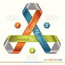 Three Objects,Arrow Symbol,Ribbon,Infographic,Vector,Mobius Strip,Connection,Simplicity,Number 3,Triangle,Choice,Curve,Orange Color,Modern,Blue,Number,Computer Graphic,Design Element,Adding Machine Tape,Label,Symmetry,Eternity,Banner,Copy Space,Ilustration,Abstract,Contrasts,Green Color,Isolated On White,Chart,Paper,Diagram